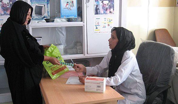 Eine Patientin bei der Gynäkologin in Dogh Abad
